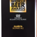 Medalla de Oro World Beer Awards Londres 2016