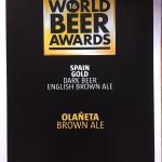 Medalla de Oro World Beer awards Londres 2016