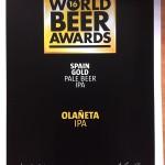 Medalla Oro World Beer Awards Londres 2016
